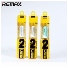 Genuine Remax RCC204 Fast 7 2.4A 2 USB Port Car Charger Adapter