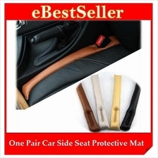 2pcs Car Side Seat Seam Leakproof Hole Seal Cover Protective Mat