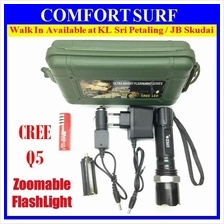 Ultrafire CREE Q5 LED ZOOM + 3 Mode Torchlight Flashligh Direct Charge