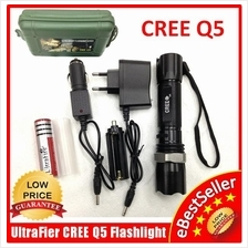 NEW Ultrafire CREE Q5 LED Zoomable 3 Mode Torchlight Flashligh Charger
