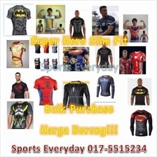 Super Hero Slim Fit Compression Shirt baju RM45 Bulk Borong Wholesale