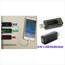 6in1 USB Doctor 5V 4.5A Ampere+Voltage+Power+Capacity+LoadTime meter QC2.0 Mul