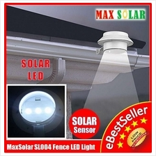 Outdoor Solar 3 LED Path Security Landscape Garden Yard Fence Light