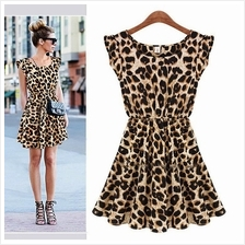WS0130D Leopard Vest Dress