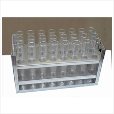 Test Tube 24pcs with Aluminium Rack