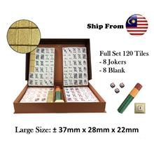 Poker Mahjong Rummy Game Gambling Party Big Tile ~ Ready Stock