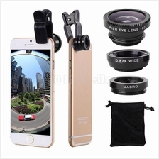 Universal Mobile Phone Camera Lens Set 3in1 Fish-Eye Macro Wide Angle