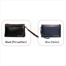 Men PU Leather (Black) / Nylon (Blue) Clutch Bag Wallet