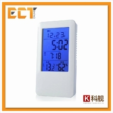 Clock MC501 Digital Alarm Clock Temperature Humidity Thermometer with Blue LCD