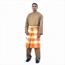 Cotton  & Silk - Baju Melayu Egyption Cotton Cairo - D1 (Brown))