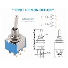 DPDT 6 Pins 2 Position Miniature Toggle Switch