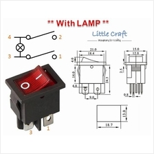 ON / OFF Power Switch With Red Lamp AC 250V 6A