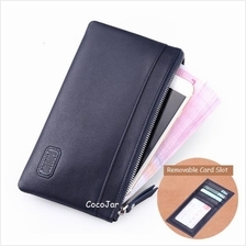 Men Genuine Soft Cow Leather Ultra Thin  Slim Wallet Cardholder Purse