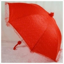 Chinese Wedding Lace Red Umbrella