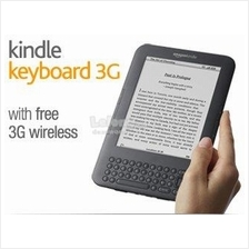 Kindle Keyboard 3G, Free 3G + Wi-Fi, 6' E Ink Display Black