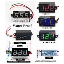 RED Water Proof Digital Voltmeter 3.5V-30VDC Fully sealed Motorcycle motorbike