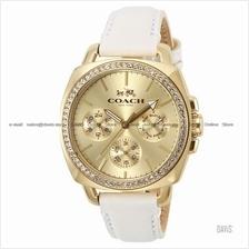 COACH 14502084 Women Boyfriend Multifunction Glitz Leather Gold White