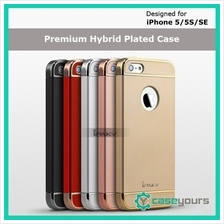 IPAKY iPhone 5 5s SE Hybrid 3 in 1 Plated PC Bumper Case Cover/ Hard C