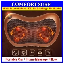 Dual Use Car Home Electric Massage NeckPillow Shiatsu Heated Massager