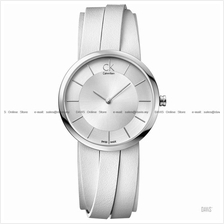 Calvin Klein K2R2S1K6 K2R2M1K6 K2R2L1K6 Women's Extent Leather White