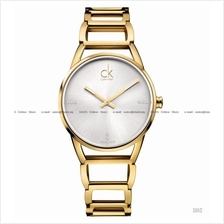 Calvin Klein K3G2352W Women's Stately Diamonds SS Bracelet Gold