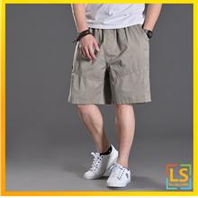 Plus Size for Men Knee Length Casual Short Pants)