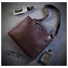 Men PU Leather Handcarry Sling Shouder Bag