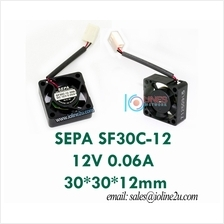 SEPA SF30C-12 12V 0.06A 30*30*12mm mini Cooling Fan bearing CPU Chipset Japan
