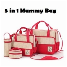 5 in 1 Mummy Multifunction Essential Diaper Bag Set