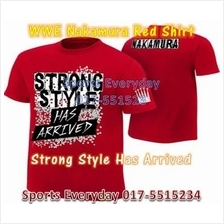 WWE WWF Shirts Nakamura Red Strong Style Arrived WRESTLING BAJU GUSTI