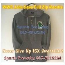 WWE WWF Hoodies Shirts John Cena Grey Full Zip WRESTLING BAJU GUSTI