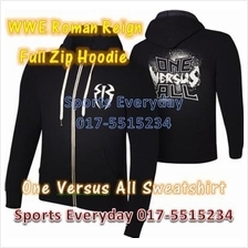 WWE WWF Hoodies Shirt Roman Reigns Black Full Zip WRESTLING BAJU GUSTI