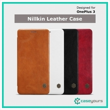 Original Nillkin OnePlus 3 3T Qin Series Leather Flip Card Holder Case