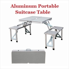 Aluminium Folding Portable Picnic Outdoor Camping Table  & 4 Chairs