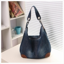 Women Lady Blue Jeans Denim Shoulder Sling Bag