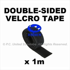 CABLE VELCRO TAPE DOUBLE-SIDED BLACK x 1m for Server Wire Tying Strap