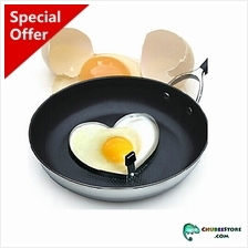 Heat proof stainless steel Valentine love heart shaped fried egg mold ..