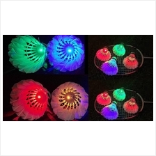 4 X LED Light Shuttle Cock (Bulu Tangkis Badminton Berlampu)