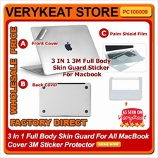 3 In 1 Full Body Skin Guard For All MacBook Cover 3M Sticker Protector