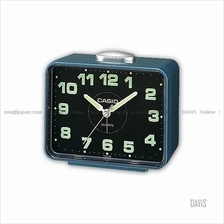 CASIO TQ-218-2 analogue wake up timer daily alarm snooze blue black