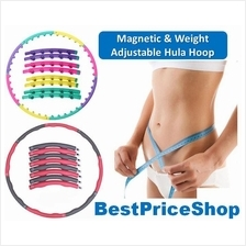 85cm Weight Adjustable & Magnetic Hula Hoop Fast Abs & belly slimming
