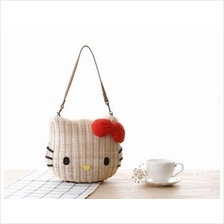 Women Lady Cute Hello Kitty Sling Shoulder Tote Bag