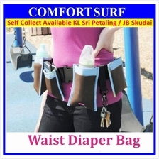 Multi-function Waist Belt Diaper Milk Bottle Carry Bag Pocket