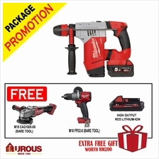 Milwaukee M18 FUEL 4 mode Cordless Battery Rotary Hammer 4.5J 28mm CHPX-502C
