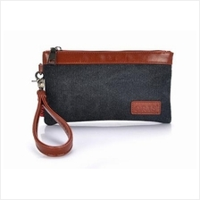 Women Canvas Casual Wristlet Purse Wallet Clutch Bag