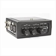 AZDEN FMX-DSLR - Pro Field 2-CH Portable Audio Mixer Battery Powered
