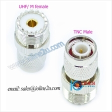TNC male to M/UHF female adapter Converter Gender changer Marine Radio Walkie