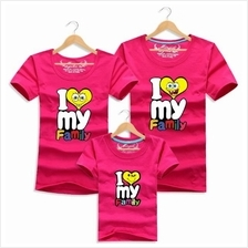 Family T Shirt Set Man + Woman ( I Love My Family Couple / Kids Boy )