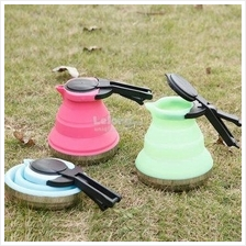Portable Folding Silicone Kettle Electric Pot Heating Camping Hiking
