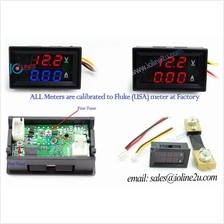 0 ~50V DC Dual Display voltage+Current meter Voltmeter 100A ammeter Red